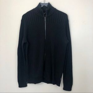 Calvin Klein Ribbed Zipper Cardigan Sweater